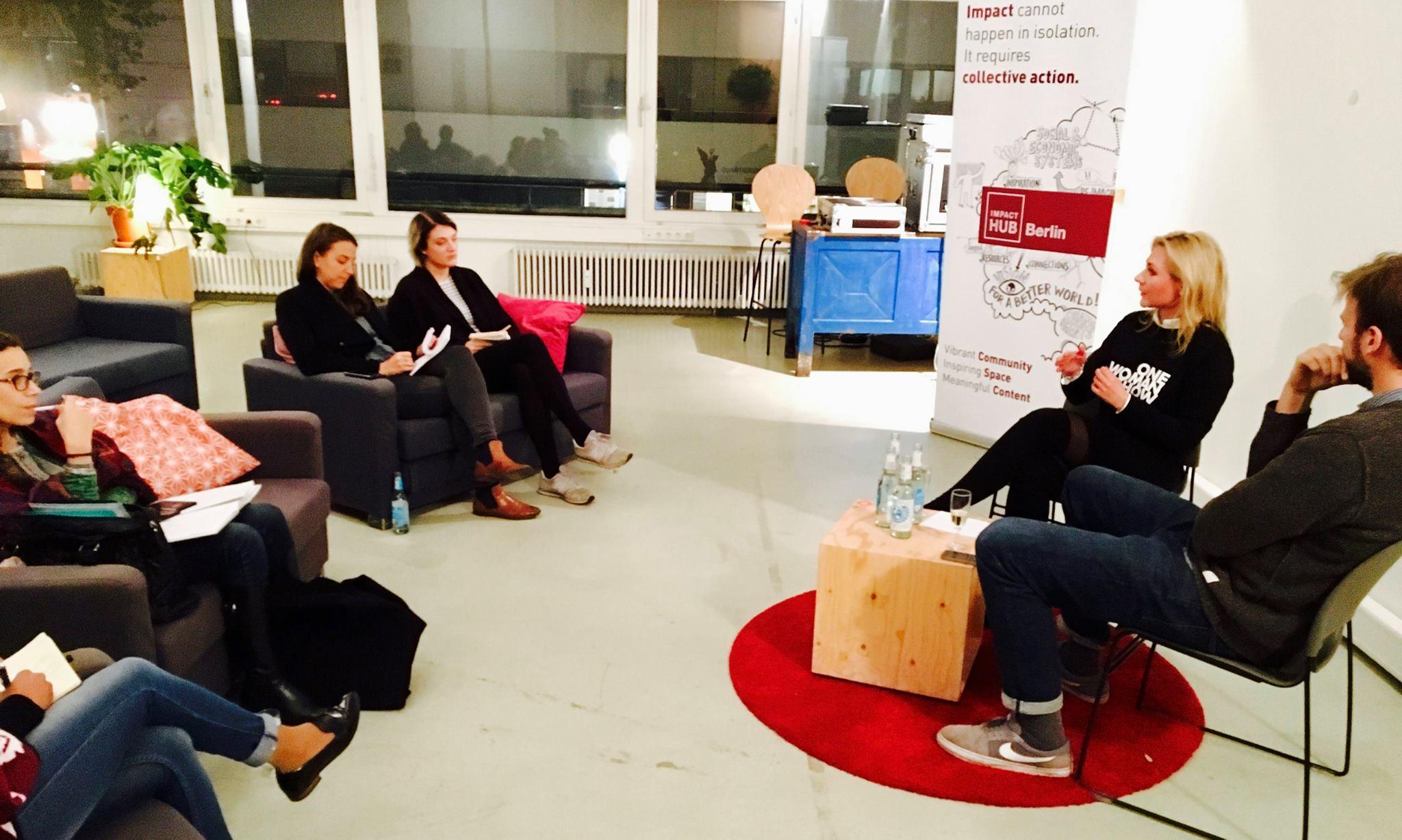 "Event: Sandra Pabst als Speaker auf den ""Telltale Nights"" des Impact Hub Berlin"